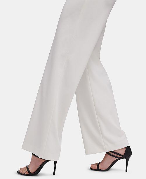 DKNY High-Waist Wide-Leg Pants