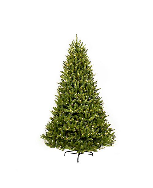Puleo International 10 ft. Pre-Lit Franklin Fir Artificial Christmas Tree with 1300 Clear UL listed Lights