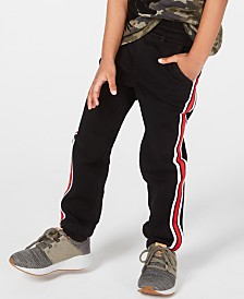Epic Threads Toddler Boys Striped Denim Jogger Pants, Created for Macy's