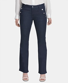 DKNY Wide-Leg Denim Trousers