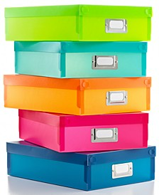 Document Boxes, Set of 5