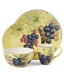 Home Fruitful Harvest Grapes 16 Piece Dinnerware Set