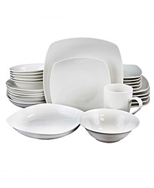 Square Dinnerware, Set of 30