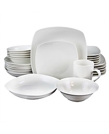 Hagen Square Dinnerware, Set of 30