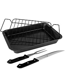 Reilly 4 Piece Non-Stick Carbon Steel Roaster Set