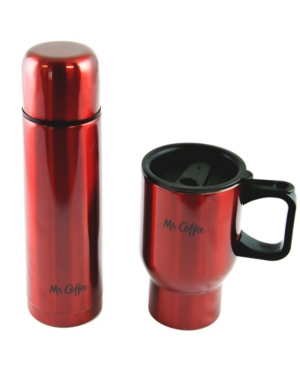 Mr. Coffee Javelin 2 Piece Double Wall Thermos and Travel Mug Gift Set