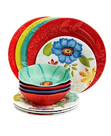 Flora 12 Piece Mix and Match Dinnerware Set