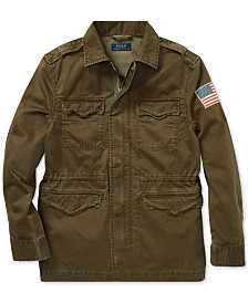Polo Ralph Lauren Big Boys Cotton Herringbone Jacket