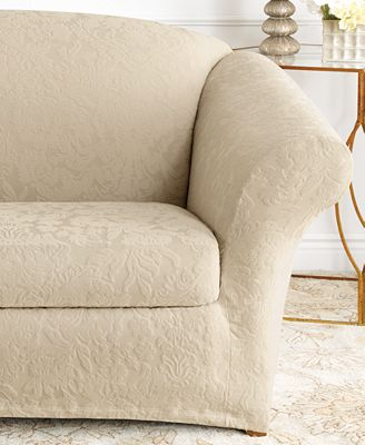 Sure Fit Stretch Jacquard Damask Slipcover Collection Slipcovers
