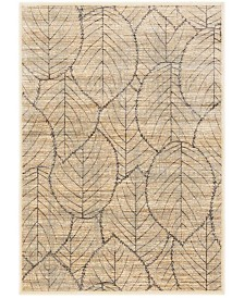 "Martha Stewart Collection Cream and Multi 4' x 5'7"" Area Rug, Created for Macy's"
