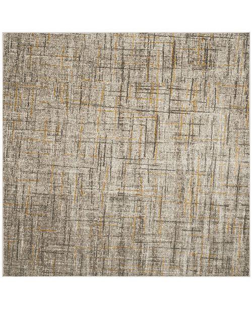 """Safavieh Porcello Gray and Dark Gray 6'7"""" x 6'7"""" Square Area Rug"""