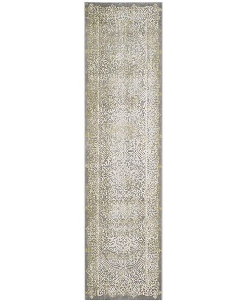 "Safavieh Passion Grey and Green 2'2"" x 8' Runner Area Rug"