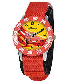 Disney Watch, Kid's Lightning McQueen Time Teacher Red Strap 31mm W000084