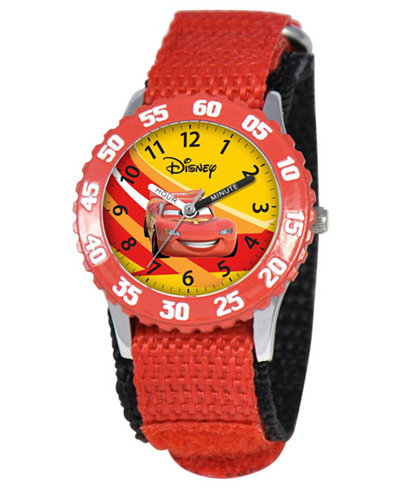 Disney Watch, Kid's Lightning McQueen Time Teacher Red ...