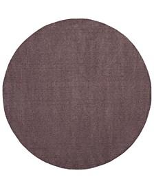 "Velvet Violet 6'7"" x 6'7"" Round Area Rug"