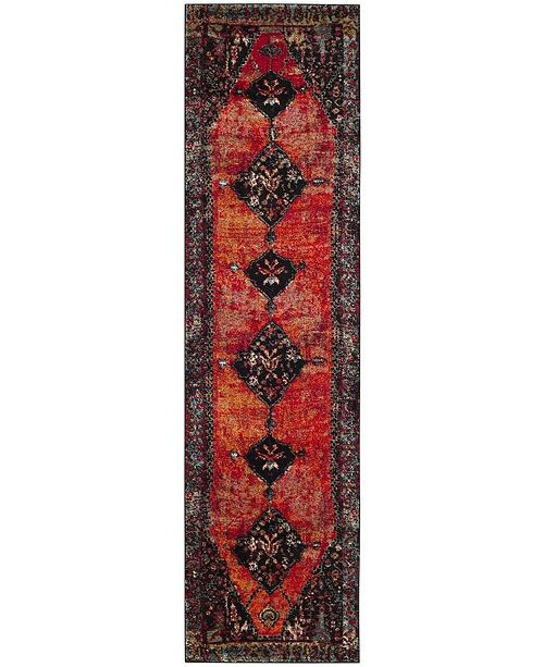 "Safavieh Vintage Hamadan Orange and Multi 2'2"" x 10' Runner Area Rug"