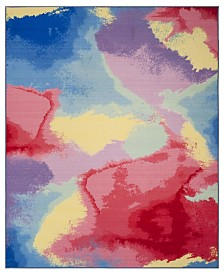 Safavieh Paint Brush Fuchsia and Yellow 8' x 10' Area Rug