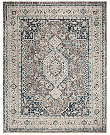 Phoenix Gray and Blue 8' x 10' Area Rug