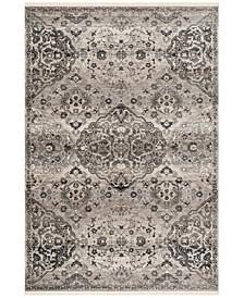 Vintage Persian Gray 5' x 5' Round Area Rug