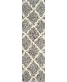 "Dallas Grey and Ivory 2'3"" x 6' Runner Area Rug"