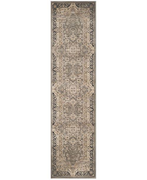 "Safavieh Vintage Taupe and Black 2'2"" x 8' Runner Area Rug"