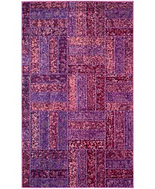 Monaco Purple and Multi 3' x 5' Area Rug