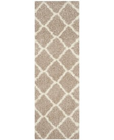 "Montreal Beige and Ivory 2'3"" x 7' Runner Area Rug"