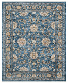 Vintage Persian Turquoise and Multi 8' x 10' Area Rug