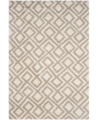 Arizona Shag Ivory and Beige 3' x 5' Area Rug