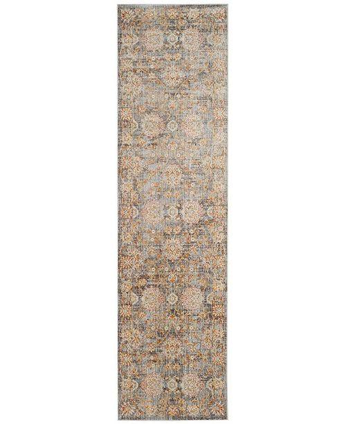 "Safavieh Vintage Persian Light Brown and Multi 2'2"" x 8' Runner Area Rug"