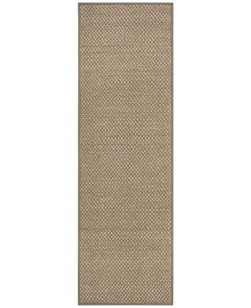 """Safavieh Natural Fiber Natural and Grey 2'6"""" x 8' Sisal Weave Runner Area Rug"""