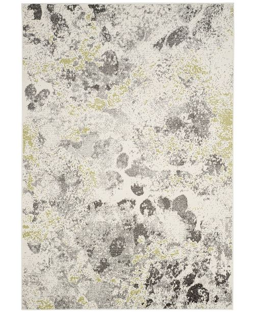 """Safavieh Watercolor Ivory and Gray 5'3"""" x 7'6"""" Area Rug"""