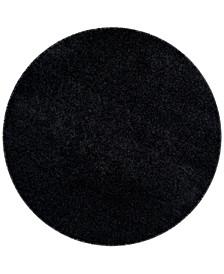 """Laguna Black 6'7"""" x 6'7"""" Round Area Rug"""