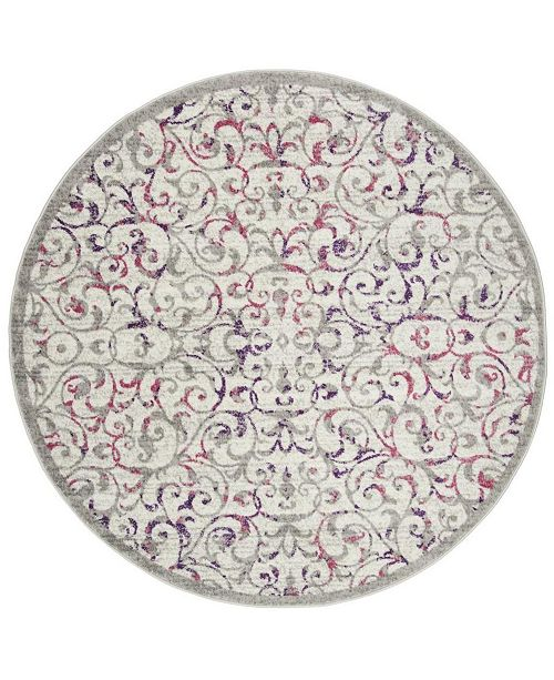 "Safavieh Skyler Ivory and Pink 6'7"" x 6'7"" Round Area Rug"