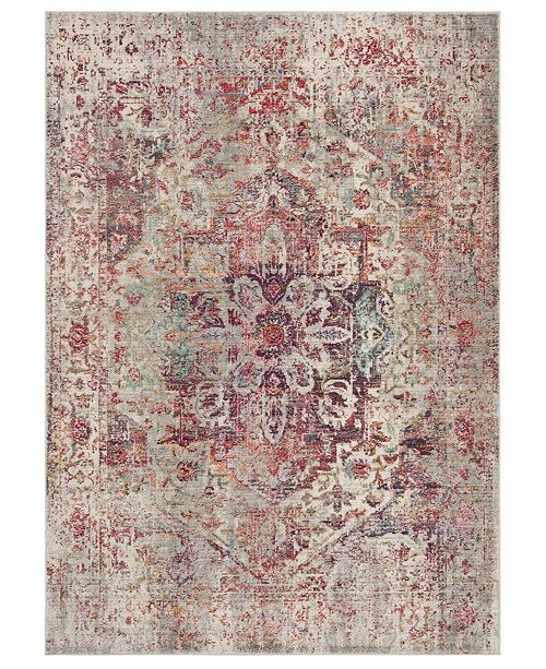 """Safavieh Valencia Gray and Red 5'1"""" x 7'6"""" Area Rug"""