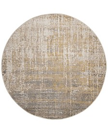 Adirondack Creme and Gold 6' x 6' Round Area Rug