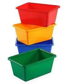 Tot Tutors Plastic Bin Pack of 4, Standard