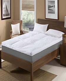 "St. James Home 5"" Feather Bed with Cotton Cover Cal King"