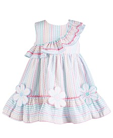 Bonnie Baby Baby Girls Rainbow Stripe Seersucker Dress