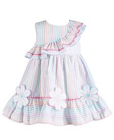 Bonnie Baby Baby Girls Rainbow Stripe Seersucker Dress
