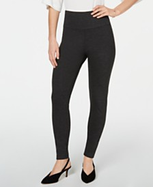 I.N.C. Shaping Knit Full-Length Leggings, Created for Macy's (Available in Plus-Size)