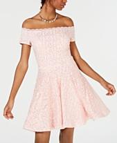 34dd8844c3450 B Darlin Juniors  Off-The-Shoulder Lace Dress