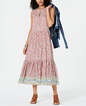 8c3823176339 Style & Co Petite Printed Tiered Maxi Dress, Created for Macy's