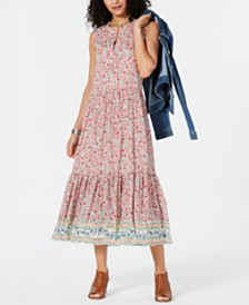 Style & Co Petite Printed Tiered Maxi Dress, Created for Macy's