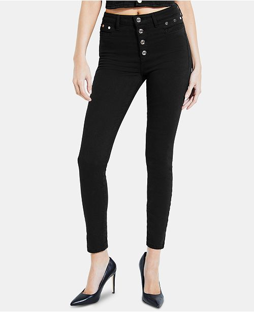 501881cbc4bda GUESS Studded 1981 Skinny Jeans   Reviews - Jeans - Juniors - Macy s