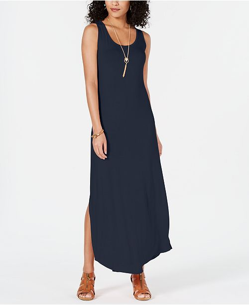 Style & Co Petite Sleeveless Scoop-Neck Maxi Dress, Created for Macy's
