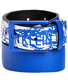 Big Boys Splatter-Print Logo Belt