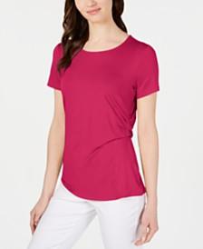 Alfani Side-Draped Top, Created for Macy's