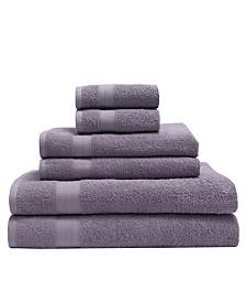 Elite Home 6-Pc. Luxury Absorbent Towel Set