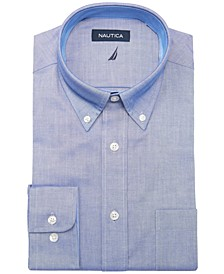 Men's Classic/Regular Fit Stretch Solid Oxford Dress Shirt
